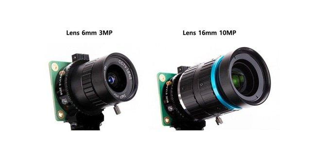 NIEUW: High Quality Camera Module en Lenzen voor de Raspberry Pi