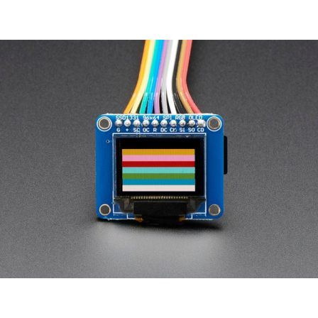 OLED Breakout Board - 16-bit Color 0.96' w/microSD holder