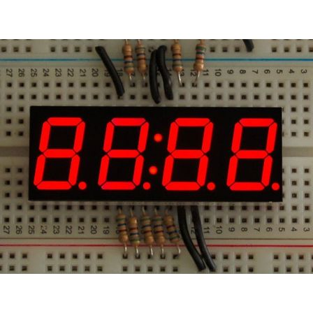Red 7-segment clock display - 0.56' digit height