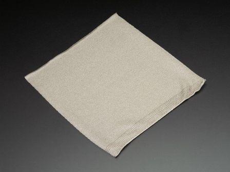 Knit Conductive Fabric - Silver 20cm square