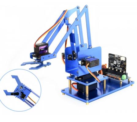 Waveshare Metalen 4-DOF Robotarm Kit voor Micro:Bit Bluetooth