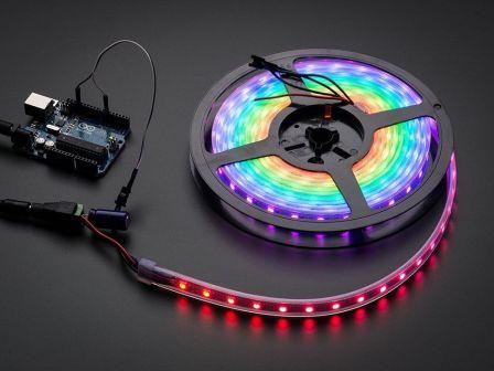 Adafruit NeoPixel Digital RGB LED Strip - Black 60 LED