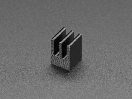 Aluminum SMT Heat Sink - 0.25'x0.25' square - 0.5' tall