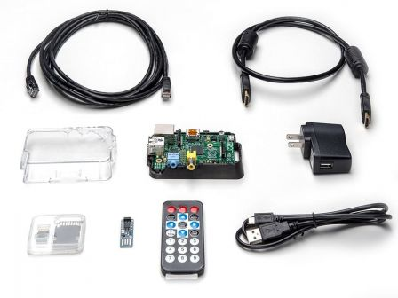 RaspBMC Pack for Raspberry Pi - Includes IRKey & Remote