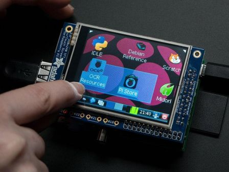 Adafruit PiTFT - 320x240 2.8' TFT+Touchscreen for Raspberry Pi