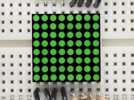 Miniature 0.8' 8x8 Pure Green LED Matrix