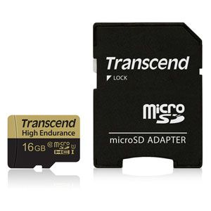 Transcend 16GB Micro SDHC High-Endurance 20MB/s