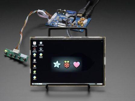 HDMI 4 Pi: 7' Display & Audio 1280x800 IPS - HDMI/VGA/NTSC/PAL