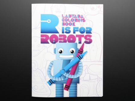 Ladyada's Coloring book - 'R is for Robots'