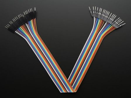 Premium Male/Male Jumper Wires - 20 x 12' (300mm)