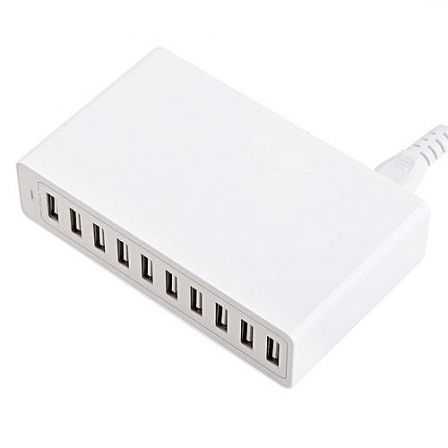 10-Ports 50w/10a USB Home Charger
