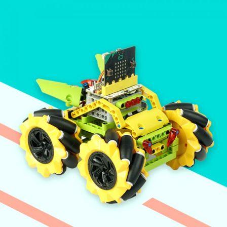 Elecfreaks Micro:Bit 4x4 Jeep GeelExclusief Micro:Bit bordje