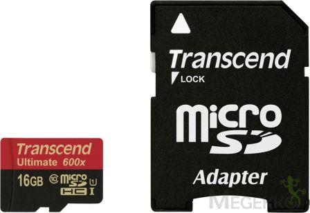 Transcend 16GB Micro SDHC Ultimate 90MB/s
