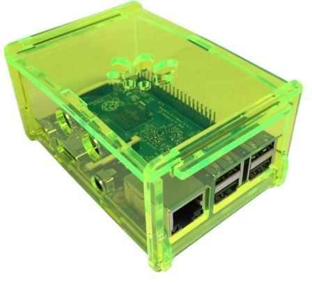 Behuizing voor alle Hifiberry + boards zoals Digi+ en RCA+ Gifgroen