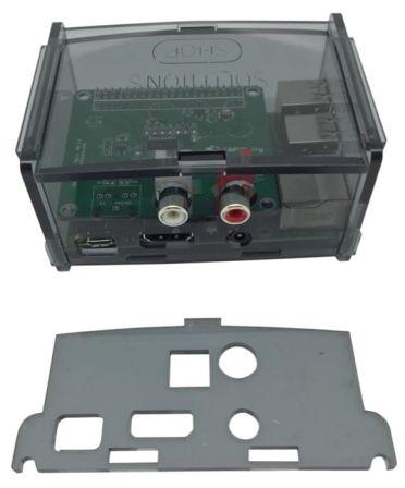 Behuizing voor alle Hifiberry + boards zoals Digi+ en RCA+ Smoke Grey