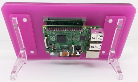 """Behuizing voor 7"""" Touchscreen SOS Framboos Roze (Mat)"""