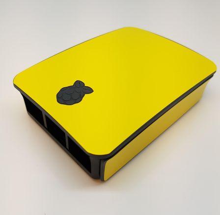 Gele Sticker (Skin) voor Originele Raspberry Pi 3 B Foundation Behuizing