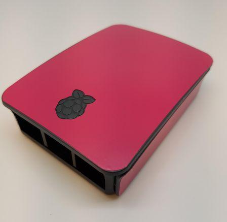 Roze Sticker (Skin) voor Originele Raspberry Pi 3 B Foundation Behuizing