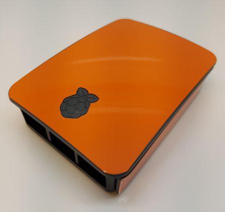 Oranje Sticker (Skin) voor Originele Raspberry Pi 3 B Foundation Behuizing