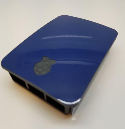 Donkerblauwe Sticker (Skin) voor Originele Raspberry Pi 3 B Foundation Behuizing