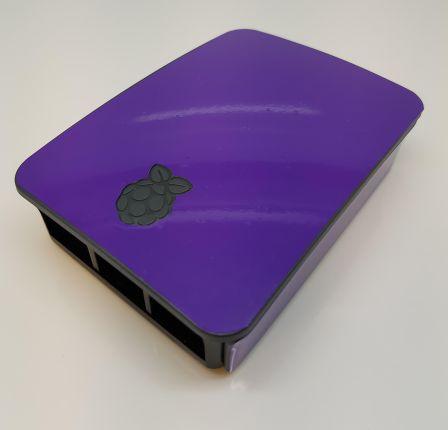 Paarse Sticker (Skin) voor Originele Raspberry Pi 3 B Foundation Behuizing