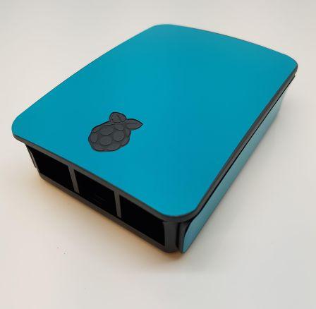 Lichtblauwe Sticker (Skin) voor Originele Raspberry Pi 3 B Foundation Behuizing