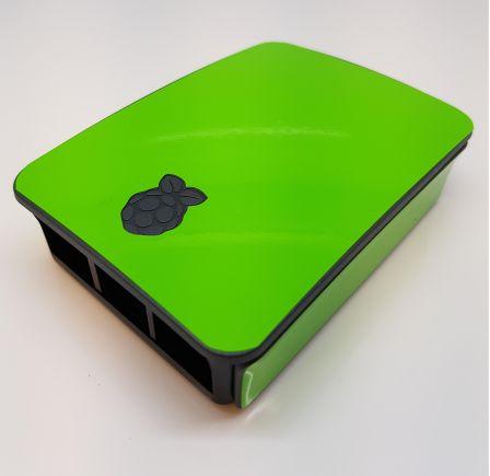 Groene Sticker (Skin) voor Originele Raspberry Pi 3 B Foundation Behuizing