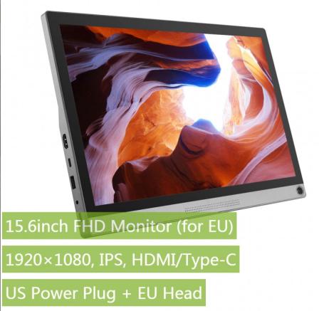 Waveshare 15.6 Inch FHD Monitor Met Accu 1920x1080 IPS