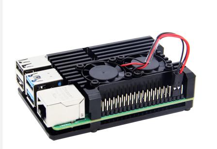 Raspberry Pi 4 Aluminium Koeling Actieve Heatsink met 2 ventilators