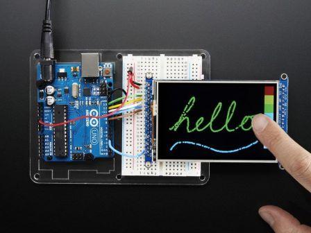 3.5' TFT 320x480 + Touchscreen Breakout Board w/MicroSD Socket