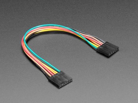 6-conductor 0.1' socket-socket cable