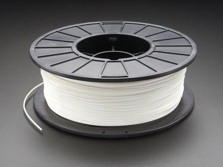 PLA Filament for 3D Printers - 1.75mm Diameter - White - 1KG