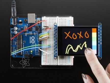 2.8' TFT LCD with Cap Touch Breakout Board w/MicroSD Socket
