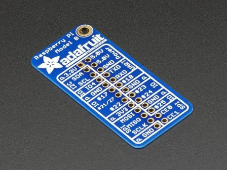 Adafruit GPIO Reference Card for Raspberry Pi Model B