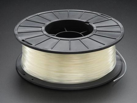 PLA Filament for 3D Printers - 1.75mm Natural Translucent - 1KG