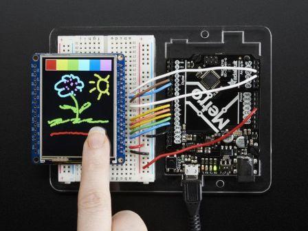 Adafruit 2.4' TFT LCD with Touchscreen Breakout w/MicroSD Socket