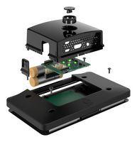 Pre-Order Raspberry Pi 4 Touchscreen behuizing Multicomp Portable + Power button Zwart