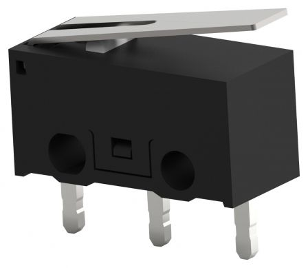 Microswitch, Ultra Subminiature, Hinge Lever, SPDT, PC Pin, 100 mA, 30 V