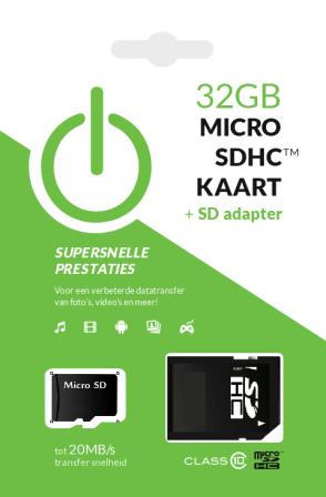 32GB MicroSDHC Kaart