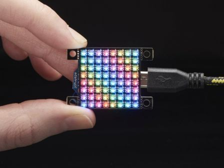 Adafruit DotStar High Density 8x8 Grid - 64 RGB LED Pixel Matrix