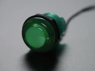 Arcade Button with LED - 30mm Translucent Green