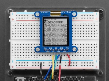 Adafruit SHARP Memory Display Breakout - 1.3' 168x144 Monochrome