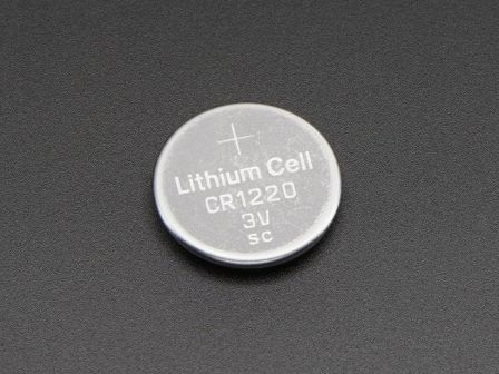 CR1220 12mm Diameter - 3V Lithium Coin Cell Battery