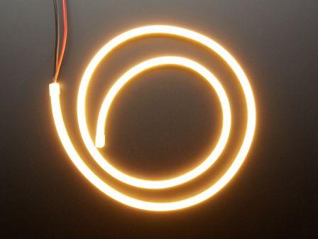 Flexible Silicone Neon-Like LED Strip - 1 Meter - Warm White