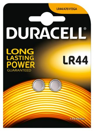 2-Pack Knoopcel Batterij LR44 105Mah 1.5V