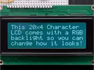 RGB backlight negative LCD 20x4 + extras