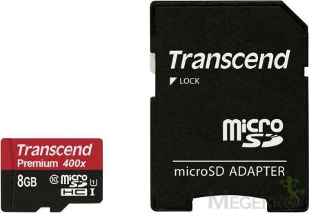 Transcend 8GB Micro SDHC Premium 90MB/s