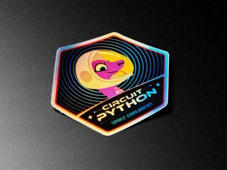 CircuitPython Space Explorers Sticker