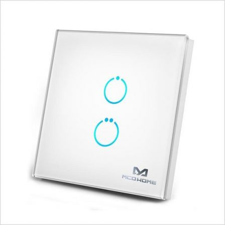 MCO Home Touch Panel Switch 2 Button - Wit