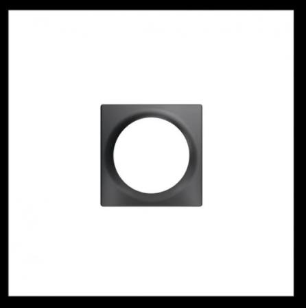 FIBARO Walli Single Cover Plate - Antraciet